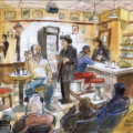 Sketch of SUPERIOR DONUTS by Thomas Thorspecken